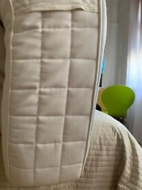 Comfy double mattress. great for good sleep. Solid proper wooden and stylish double bed also avail