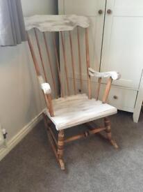 Shabby chic rocking chair nursing chair