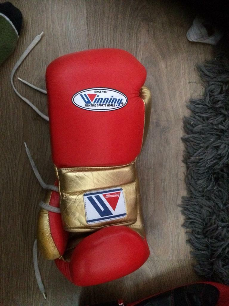 Winning boxing gloves lace ups | in Audenshaw, Manchester | Gumtree