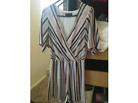 Striped summer playsuit new look size 6/8