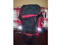 Large 65 liter rucksack.