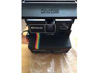 Polaroid 600 land camera supercolor complete with strap