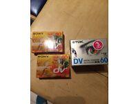 5x mini DV tapes