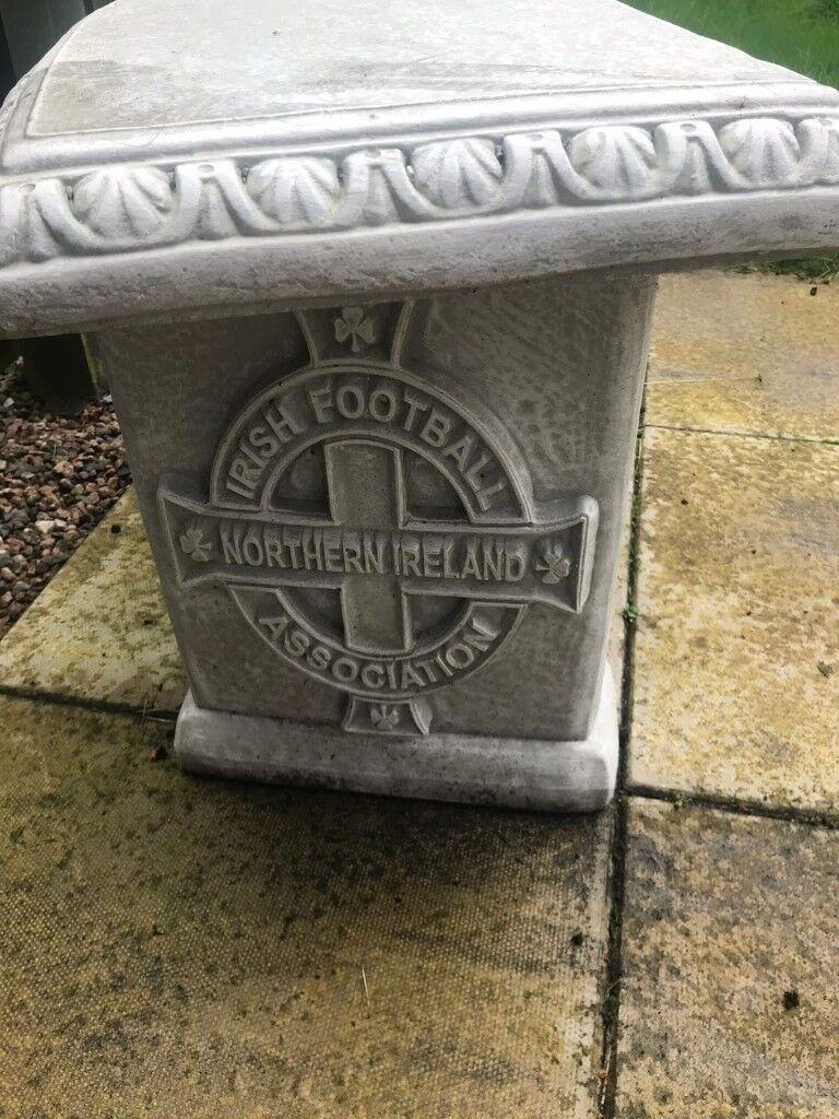 Gawa Stone Bench Northern Ireland Football Garden Bench