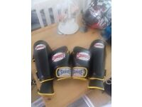 SANDEE BOXING GLOVES AND SHIN GUARDS