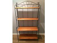 Shelving Unit - Metal frame with wooden shelves