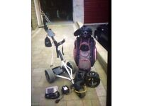 PowerCaddy Electric Trolley and Bag.