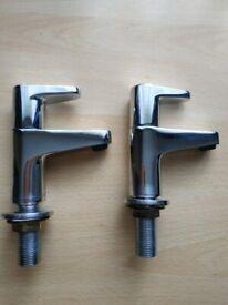 A pair of Bristan Quest basin taps