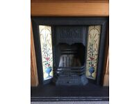 Cast iron fireplace and grate