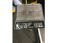 Roland SPD SX sample pad with stand and flight case