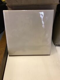 Lovely glazed wall tiles 11x11cm in ivory cream colour