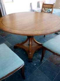 Beautiful solid wood round table