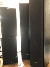 Kenwood Amp and 4 Sony Speakers