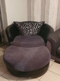 Free loveseat and footstool