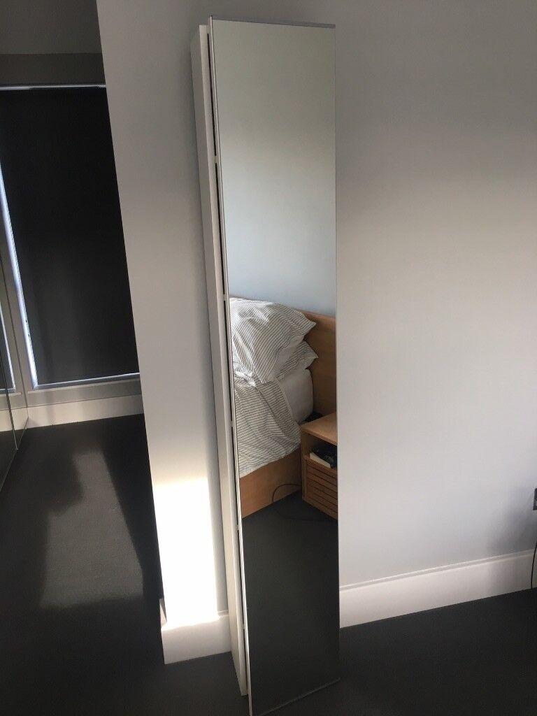 Tall Bathroom Cabinet With Mirror: IKEA LILLÅNGEN Tall Bathroom Cabinet With Mirror Door In