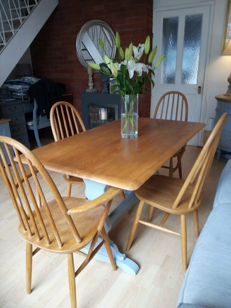Peachy Stunning Ercol Style Dining Table 4 Chairs In Gloucester Road Bristol Gumtree Download Free Architecture Designs Licukmadebymaigaardcom