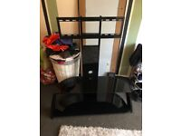 TV STAND WITH 2 SHELVES! Any size tv! BLACK