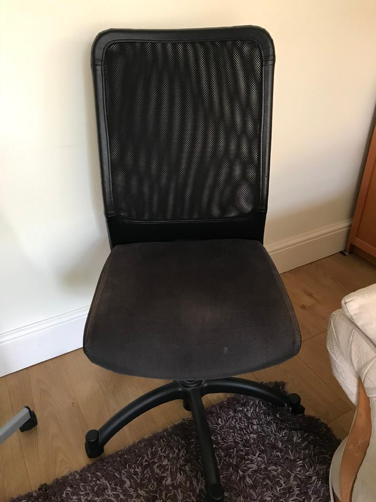 Office Study Computer Chair - improved soft back rest - Black