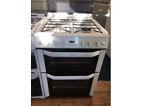 BELLING 60CM ALL GAS COOKER IN WHITE WIGH LID