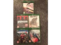 5 xbox one games £40 or sold seperately