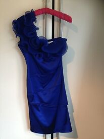 Royal Blue Aja Ruffle Dress