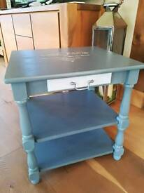 Gorgeous grey painted side table