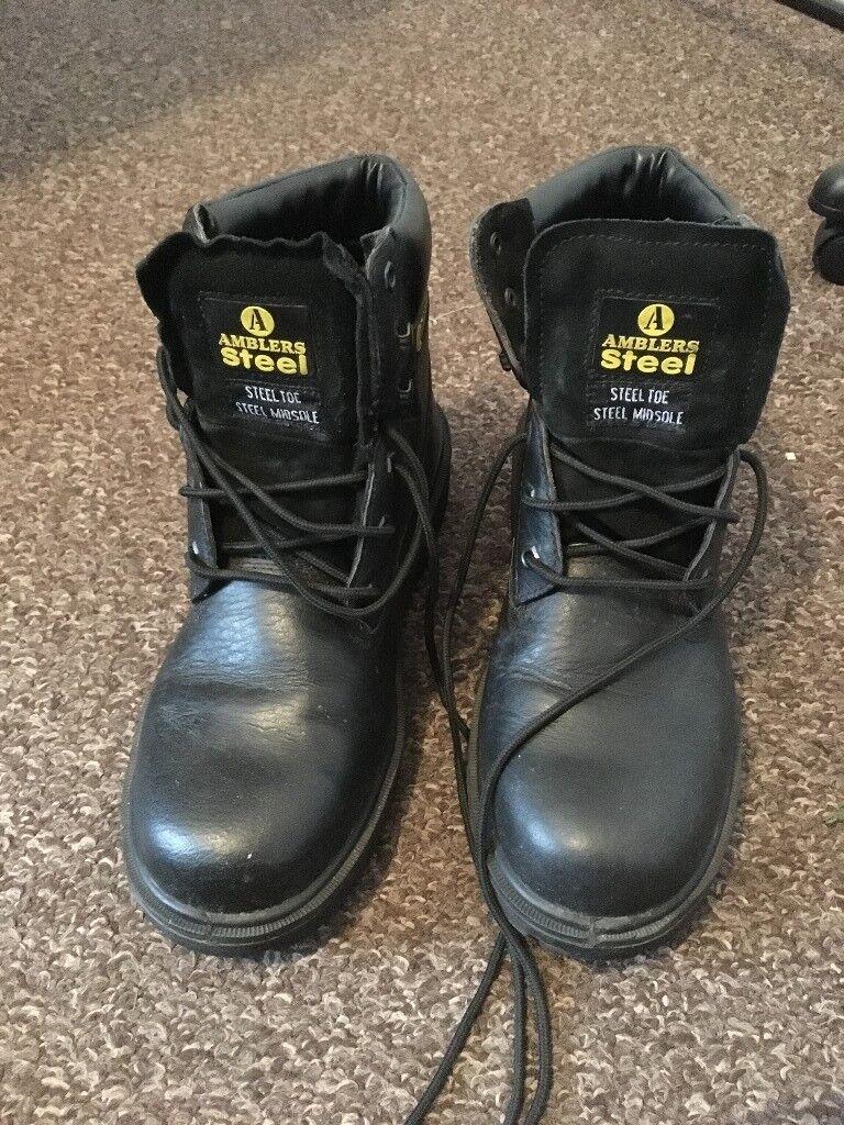 Size 10 Amblers Steel-Toe Boots
