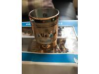 Turkish style glass tea cup set