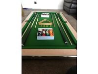 Slate bed slimline pool table 6x3