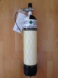 7 Litre 300 Bar MDE Air Bottle Cylinder c/w Valve, Gauge & Hose. Tested 2016. As Pictured