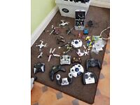 A Collection of assorted Helicopters, Quad Copters and Hex Copters