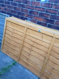 4 overlap fence panels 6x3f brand new