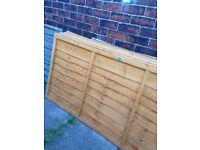 4 overlap fence panels 6x3f brand new