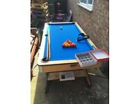 6 X 3 ft folding pool table