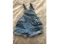Girls dungarees age 3-4