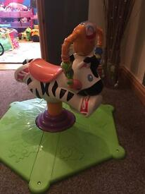 Fisher price light and bounce zebra
