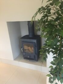 CLEARVIEW PIONEER 400 5KW multifuel stove FREE CUT & SEASONED LOGS at least 1 years burning