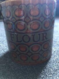 Vintage 1970s Hornsea flour storage jar
