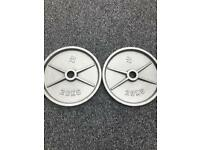 X2 20KG OLYMPIC METAL WEIGHT PLATES