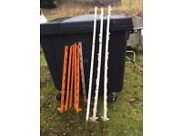 Electric fence posts stakes