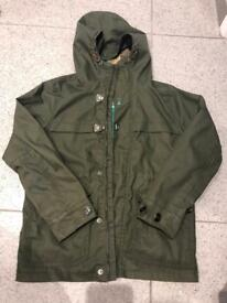 Boys next khaki raincoat jacket age 9