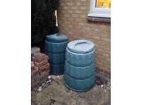 2 x garden compost bins free