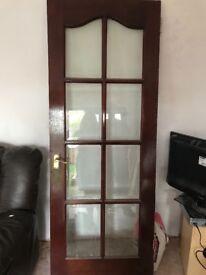 Solid wood glass panal door
