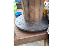 Wooden Reclaimed Industrial Cable Reel/Drum Table