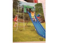 Garden TP Activity Swingdeck attached to a triple swing