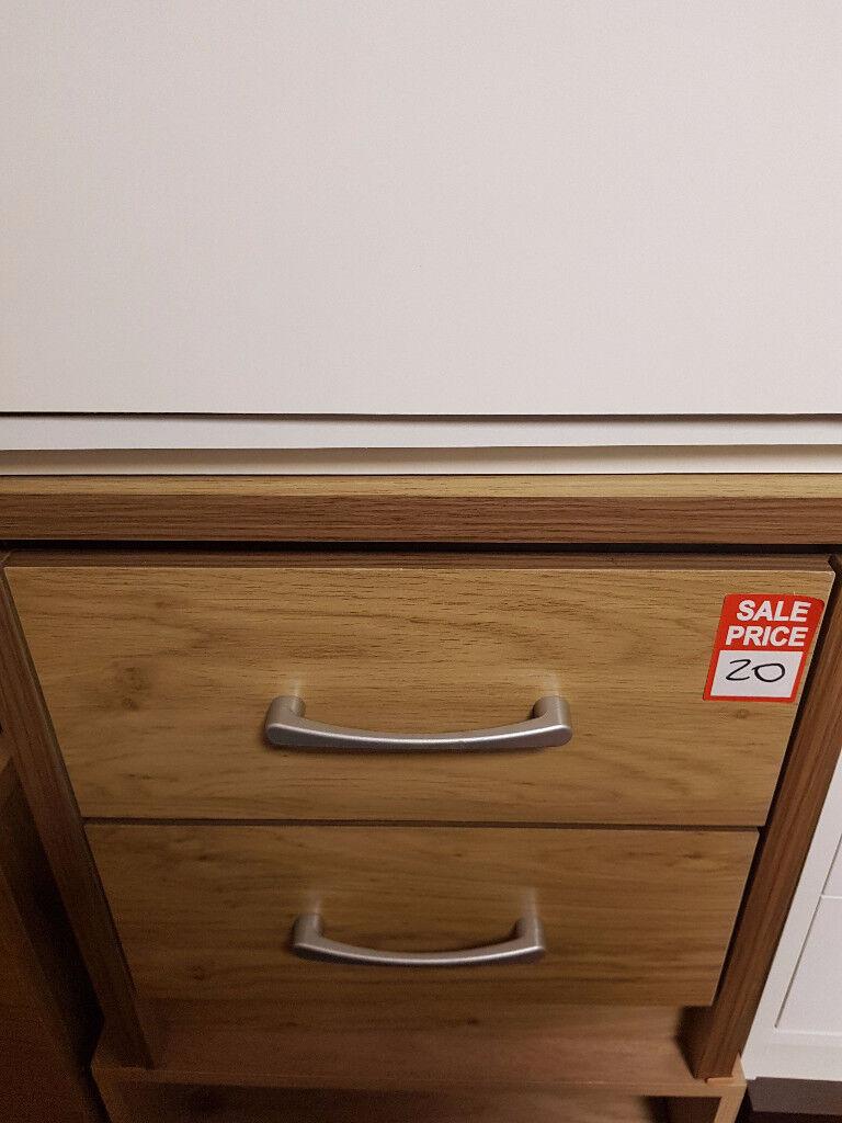 seconik 2 drawer bedside oak