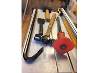 CLUB HAMMER, SLEDGEAMMER, CROW BAR, BALL-PEEN HAMMER, COLD CHISEL, BOLSTER ( ALL GREAT BUYS )