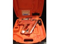 Paslode IM350 First Fix Gas Nail Gun With Case, Charger and New Battery.