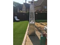 Flame effect gas patio heater