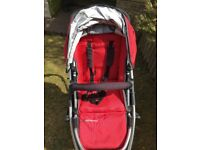 UPPAbaby Vista Travel System Single Seat Stroller - Denny Red,